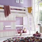 Incidible Hochbett Aus Holz Mit Leiter Fr Mdchen Paradise Wohnzimmer Mädchenbetten
