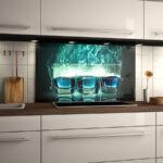 Küchen Glasbilder Uncategorized Ehrfurchtiges Modern Kuche Bad Küche Regal Wohnzimmer Küchen Glasbilder