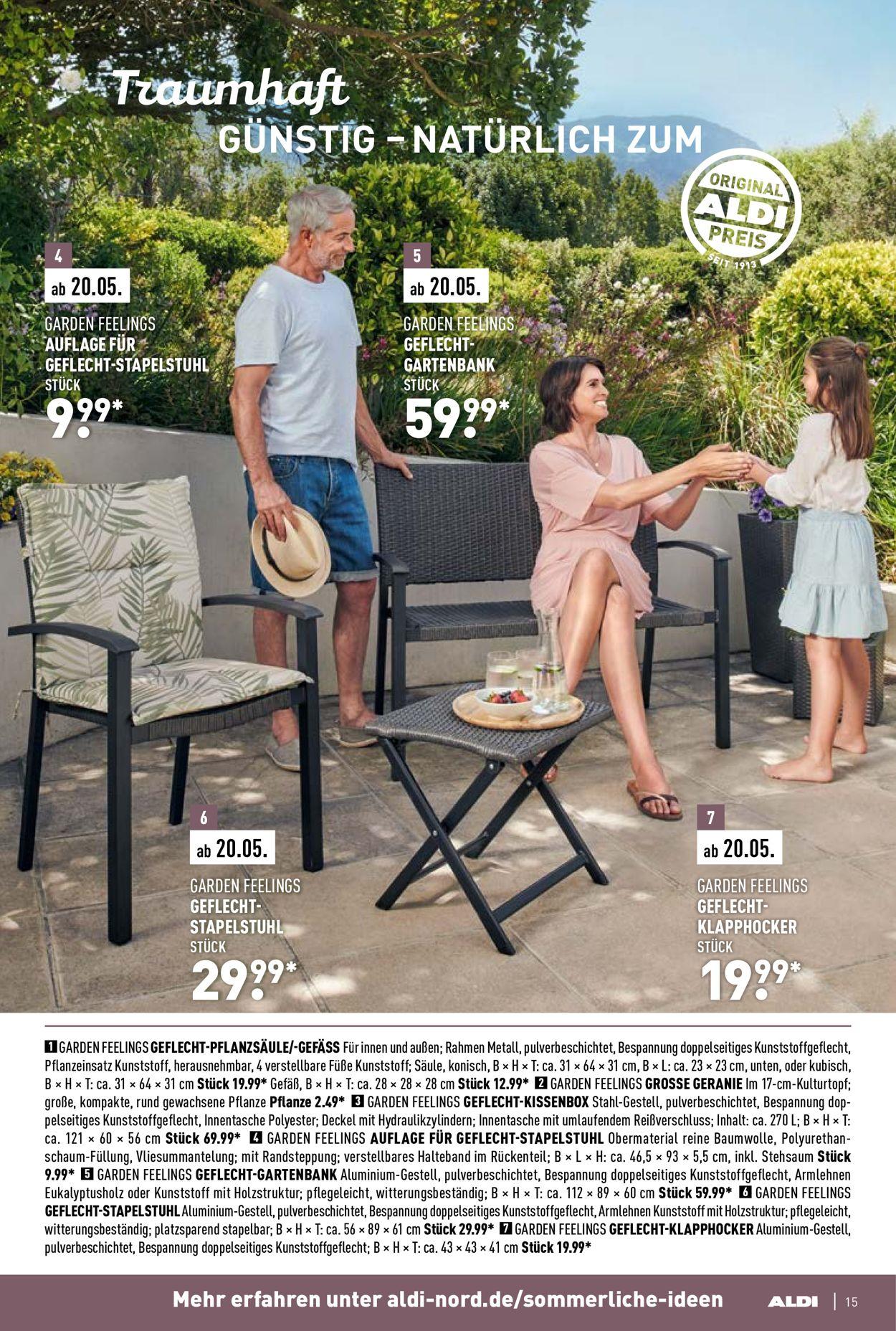 Full Size of Aldi Nord Aktueller Prospekt 0604 30042020 15 Jedewoche Relaxsessel Garten Wohnzimmer Aldi Gartenbank