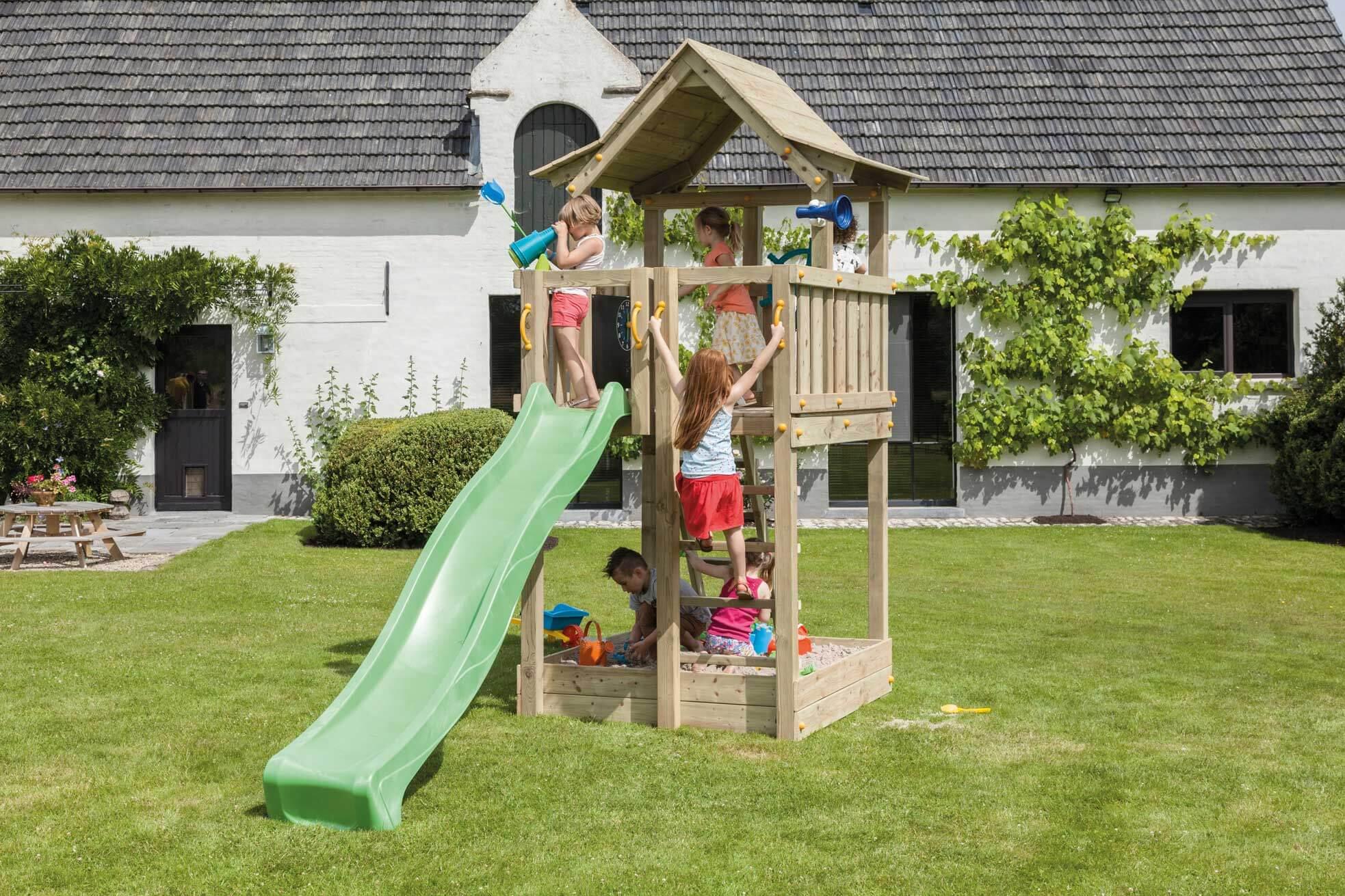 Full Size of Spielturm Garten Fr Den Bauhaus Fenster Kinderspielturm Wohnzimmer Spielturm Bauhaus