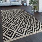 Handgewebter Trend Teppich Marokko Schwarz Teppichcenter24 Weißes Bett 160x200 Weiße Regale 120x200 Weiß Landhausküche 140x200 Betten Esstisch Oval Wohnzimmer Teppich Schwarz Weiß