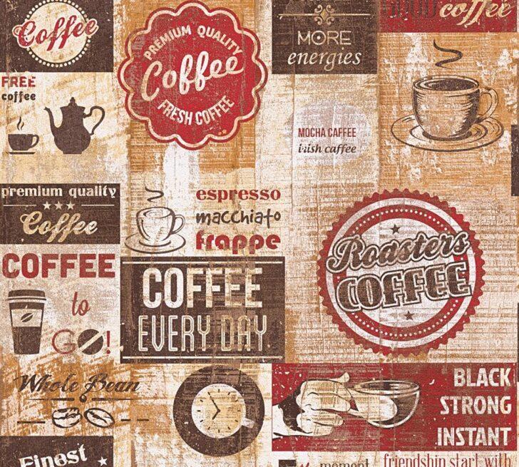 Medium Size of Tapete Kaffee Kche Rotbraun 33480 1 Küche Günstig Mit Elektrogeräten Sitzbank Lehne Pentryküche Wasserhahn Wandanschluss Kleiner Tisch L E Geräten Wohnzimmer Tapete Küche Kaffee