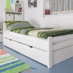 Jugendbett 90x200 Wohnzimmer Jugendbett 90x200 Bett Mit Schubladen Weiß Lattenrost Kiefer Bettkasten Und Matratze Betten Weißes