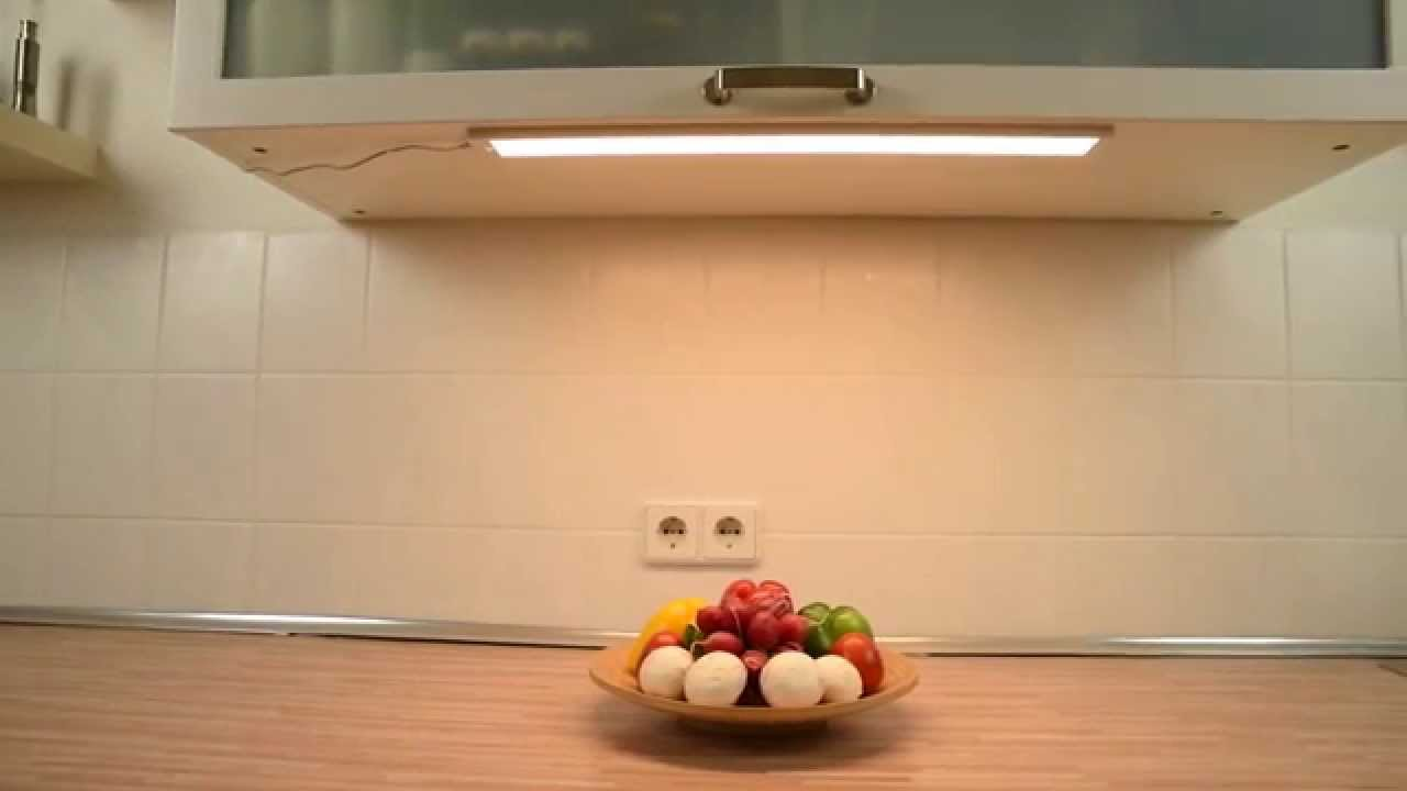 Full Size of Unterbauleuchten Küche Dualusensorgesteuerte Unterbauleuchte Produktvideo Youtube Ohne Geräte Betonoptik Deckenleuchte Pantryküche Mit Kühlschrank Tresen Wohnzimmer Unterbauleuchten Küche