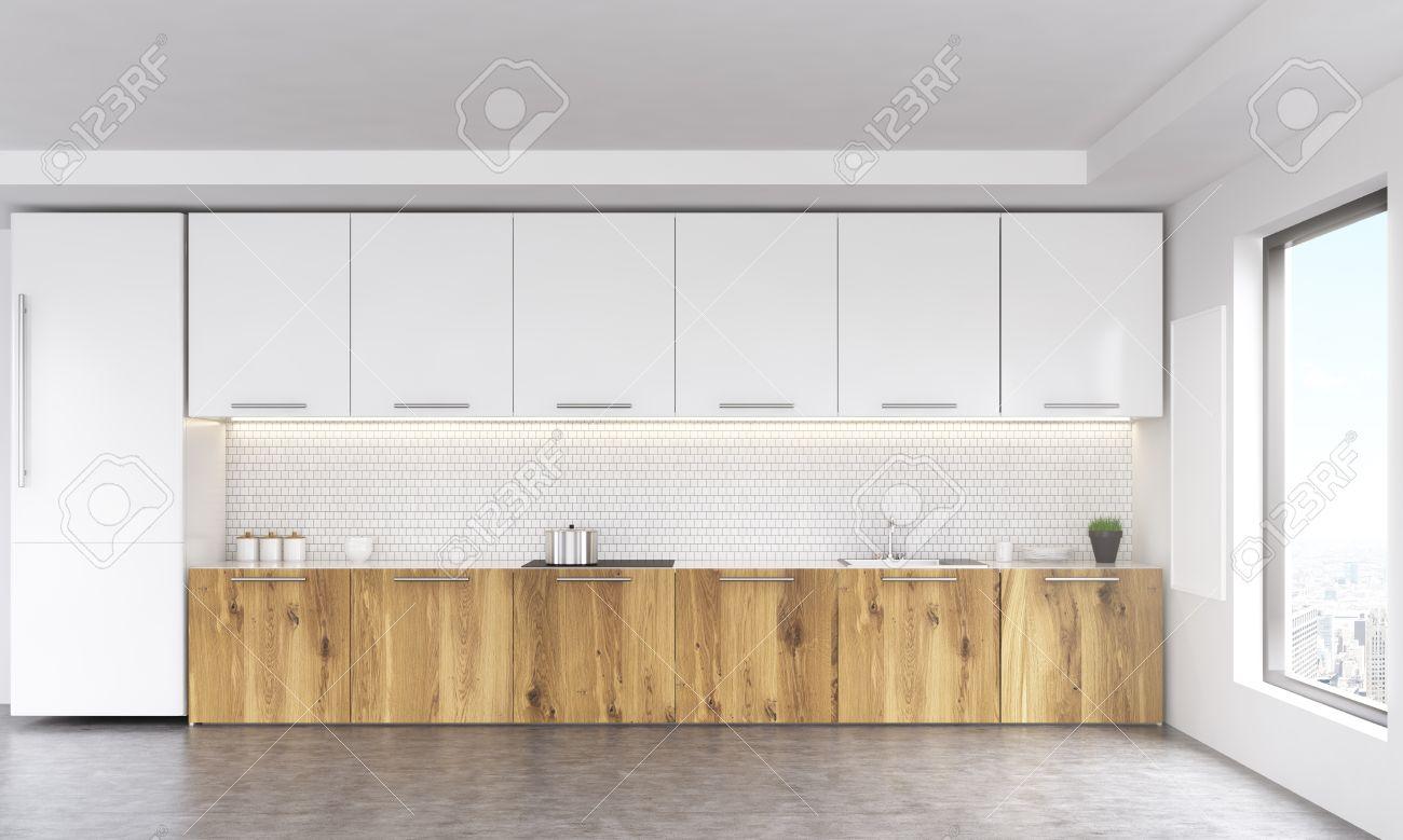 Full Size of Pinnwand Küche Frontansicht Weien Und Holz Kche Interieur Mit Leeren Erweitern Barhocker Nolte Winkel Unterschränke Stengel Miniküche Einbauküche Kaufen Wohnzimmer Pinnwand Küche