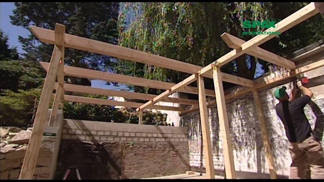 Large Size of Konny Prsentiert Bau Dir Eine Pergola Mit Spayoutube Massivholz Bett Fliesen In Holzoptik Bad Loungemöbel Garten Holz Waschtisch Regal Weiß Modernes Sofa Wohnzimmer Holz Pergola Modern