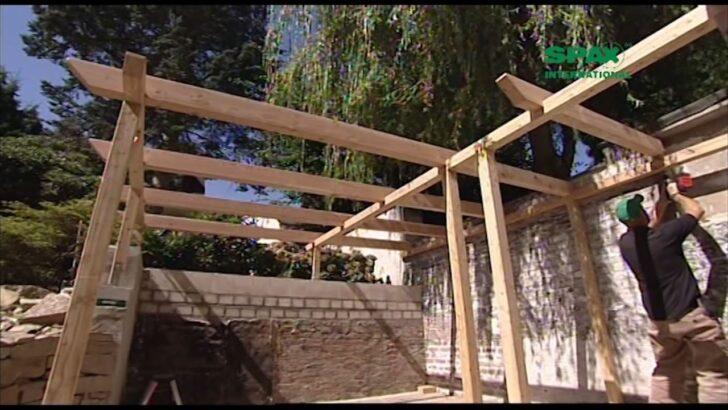 Medium Size of Konny Prsentiert Bau Dir Eine Pergola Mit Spayoutube Massivholz Bett Fliesen In Holzoptik Bad Loungemöbel Garten Holz Waschtisch Regal Weiß Modernes Sofa Wohnzimmer Holz Pergola Modern