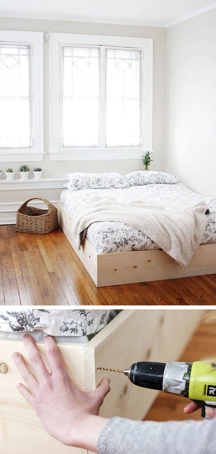 Full Size of Flaches Bett Selber Bauen12 Einmalige Diy Und Bettrahmen Ideen Weißes 140x200 Kaufen Günstig Amerikanisches Betten Für übergewichtige 120 X 200 Weiß Wohnzimmer Flaches Bett