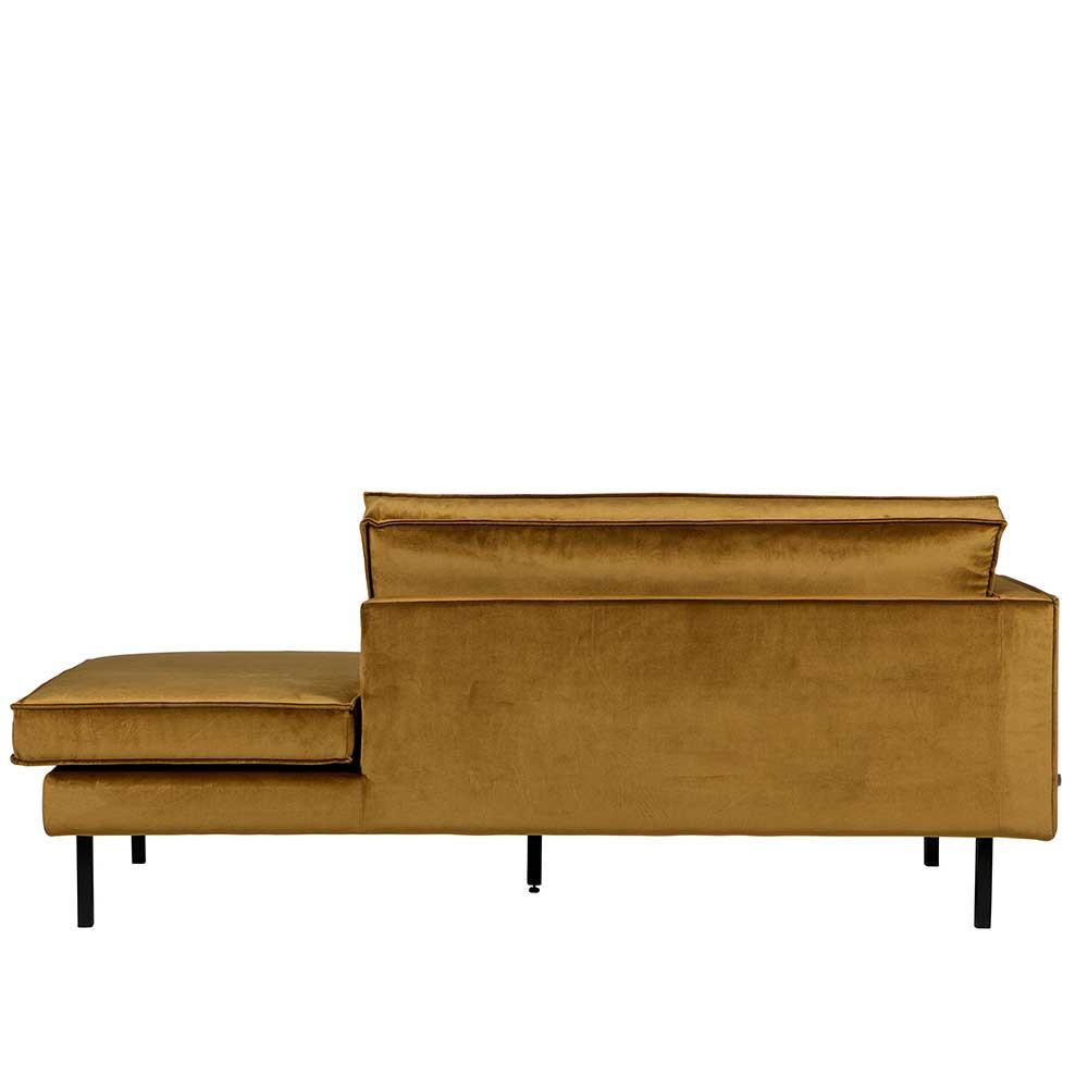 Full Size of Samt Recamiere Mit Armlehne Links In Honigfarben Saguan Sofa Wohnzimmer Recamiere Samt