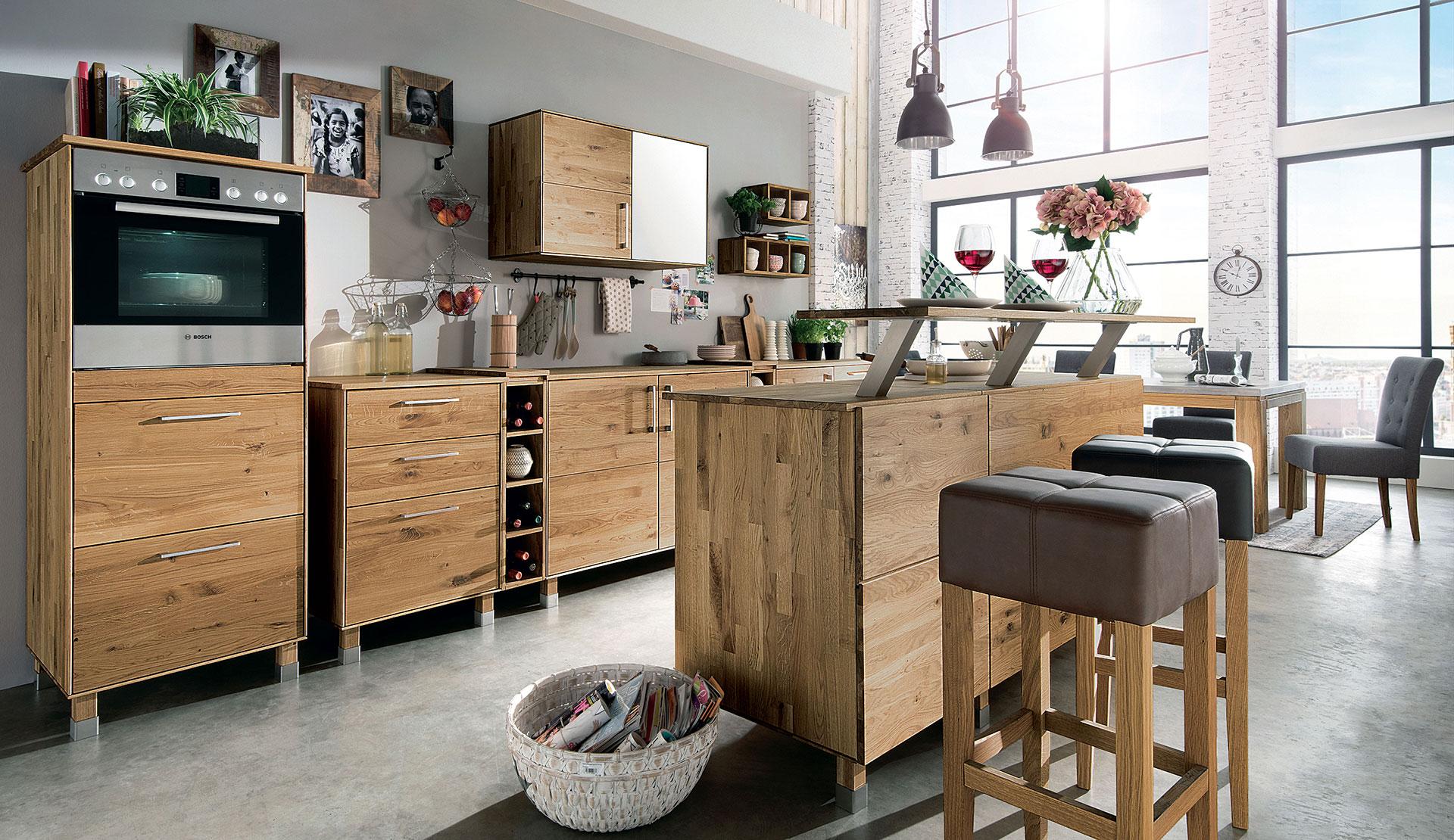 Full Size of Freistehende Küchen Massivholz Modulkche Culinara Schadstoffgeprft Küche Regal Wohnzimmer Freistehende Küchen