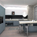 Holzküche Mobile Küche Moderne Landhausküche Stehhilfe Hängeschrank Glastüren Singelküche Grau Magnettafel Einbauküche Mit E Geräten Schmales Regal Wohnzimmer Küche Grauer Boden