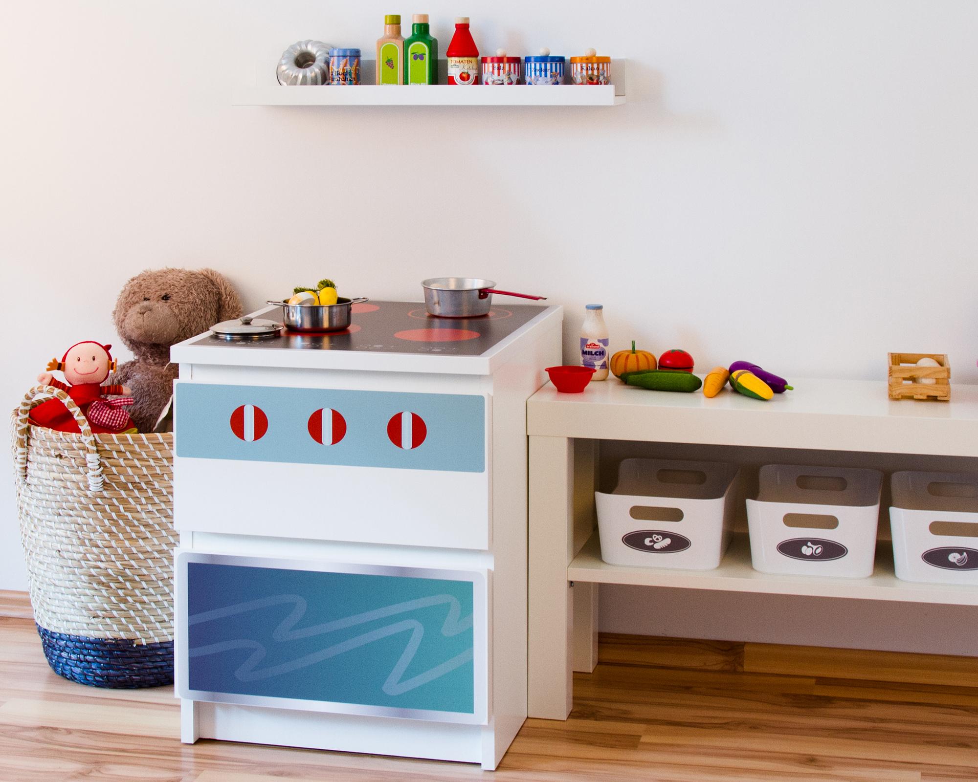 Full Size of Spielküche Ikea Hack Spielkche Aufkleber Fr Das Kinderzimmer Kinder Wohnzimmer Spielküche