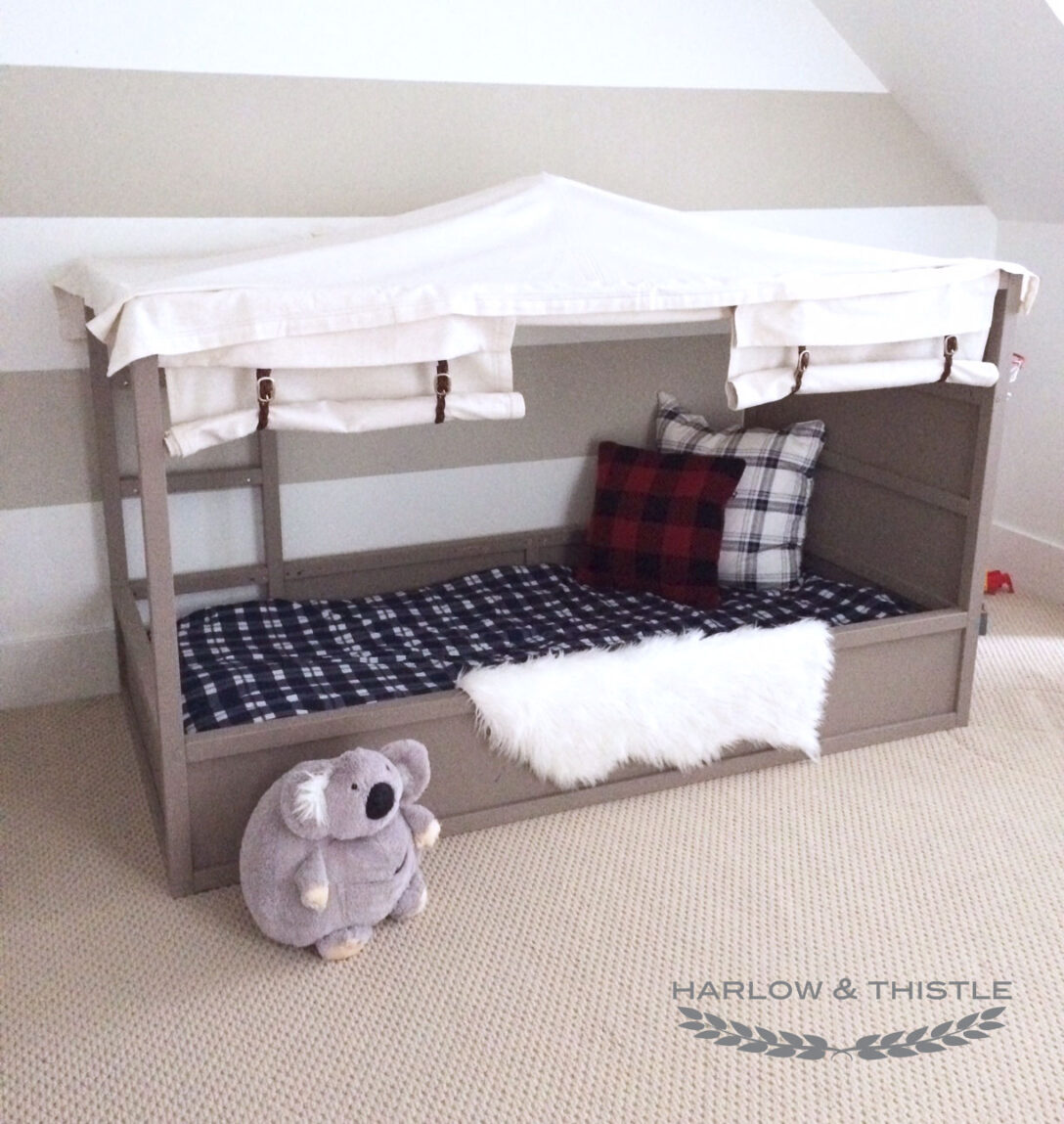 Large Size of Kura Hack Ikea Bed Diy Boy Canopy Harlow Thistle Home Wohnzimmer Kura Hack