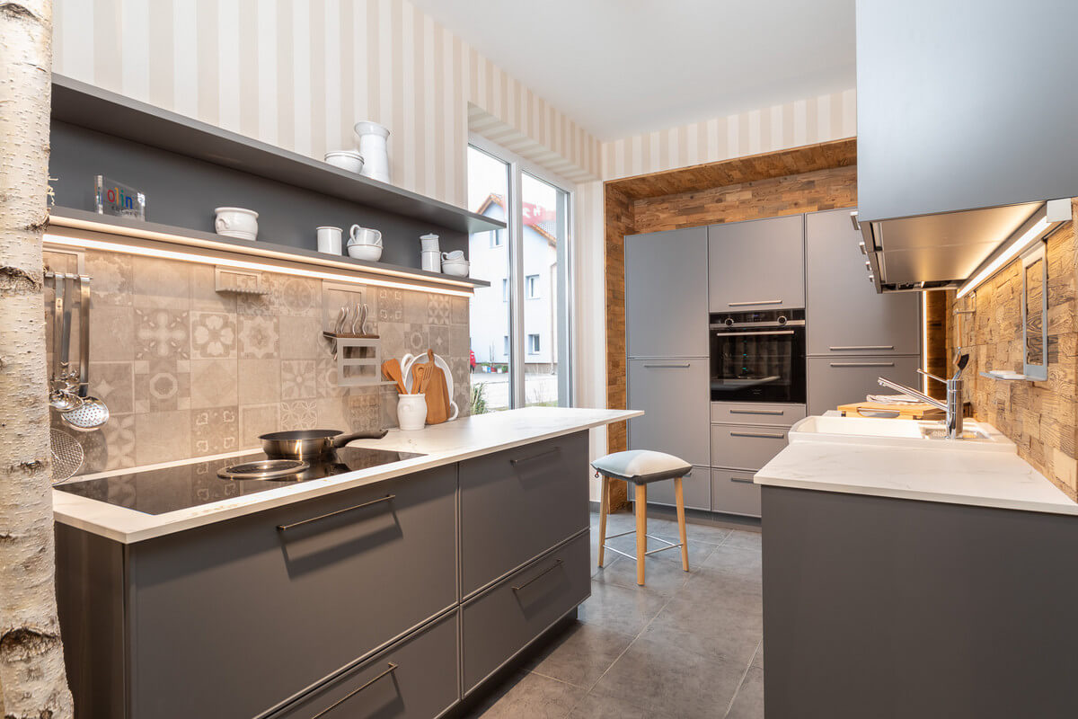 Full Size of Eine Moderne Olina Landhauskche Kchen Brunnmair Ing Küchen Regal Wohnzimmer Olina Küchen