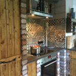 Gemauerte Küche Wohnzimmer Gemauerte Küche Wasserhähne Singelküche Landhausstil Deckenlampe Teppich Spülbecken Inselküche Kleine Einbauküche Fliesen Für Schwarze Handtuchhalter