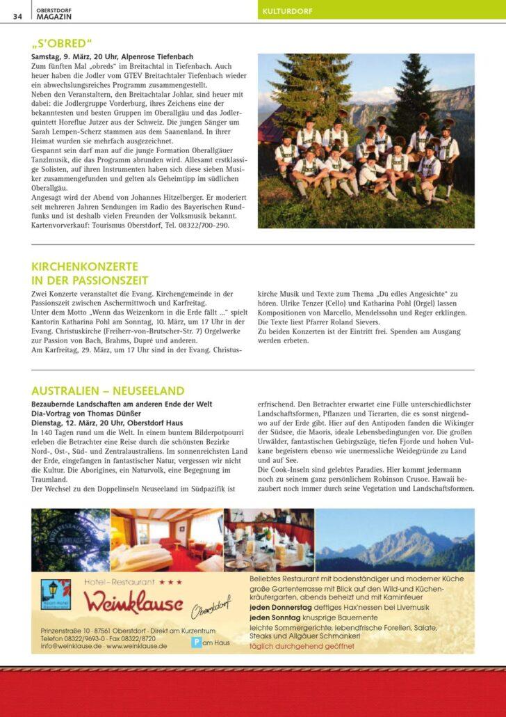 Medium Size of Oberstdorf Magazin 3 2013 By Tourismus Wohnzimmer Küchenkräutergarten
