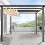Terrassen Pavillon Wohnzimmer Terrassen Pavillon Amazonde Pergola Aluminiumgestell Polyester Garten