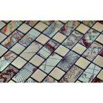 Selbstklebende Mosaikfliesen Tomsk Gold Gemustert Mosaic Outlet Fliesenspiegel Küche Selber Machen Glas Fliesen Für Dusche Badezimmer Holzfliesen Bad Wohnzimmer Selbstklebende Fliesen