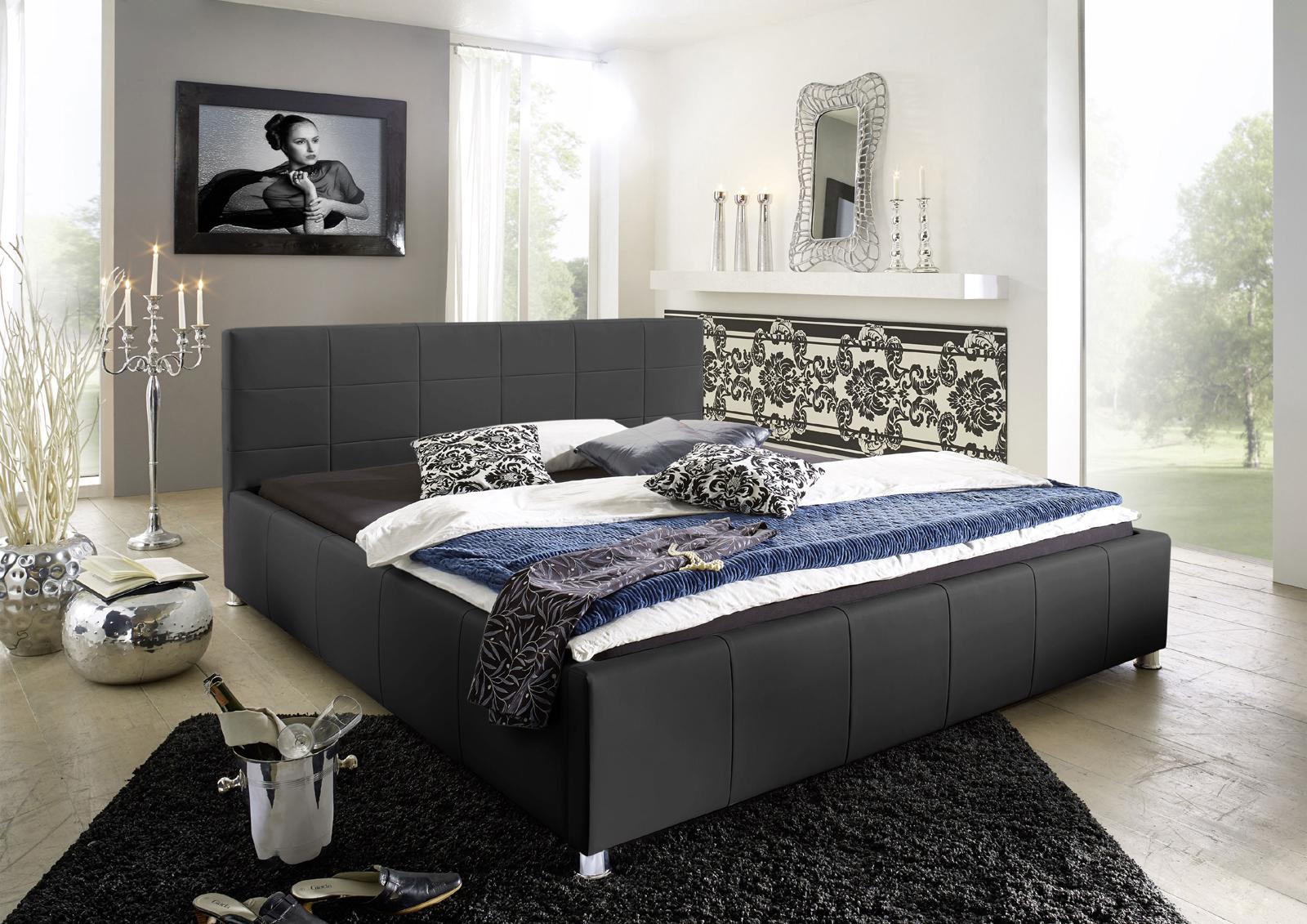 Full Size of Wasserbetten Europacom Polsterbett Euro Kira 200x220 Cm In Schwarz Bett Betten Wohnzimmer Polsterbett 200x220