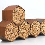 Holzlege Cortenstahl Woodbee Wood Storage Brennholz Lagerung Wohnzimmer Holzlege Cortenstahl