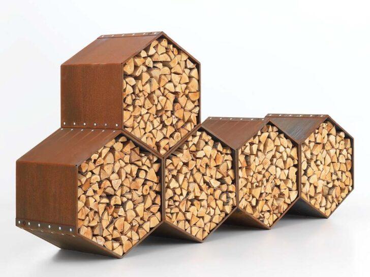 Medium Size of Holzlege Cortenstahl Woodbee Wood Storage Brennholz Lagerung Wohnzimmer Holzlege Cortenstahl