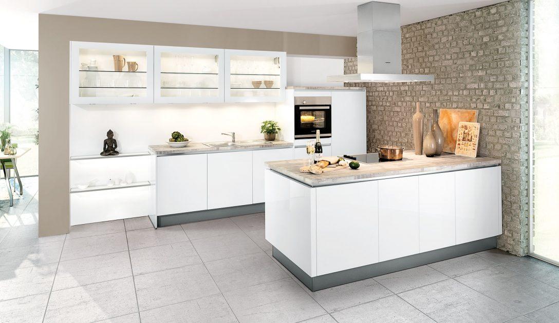 Large Size of Küchen Quelle Moderne Einbaukche Classica 1230 Grifflos Weiss Hochglanz Regal Wohnzimmer Küchen Quelle