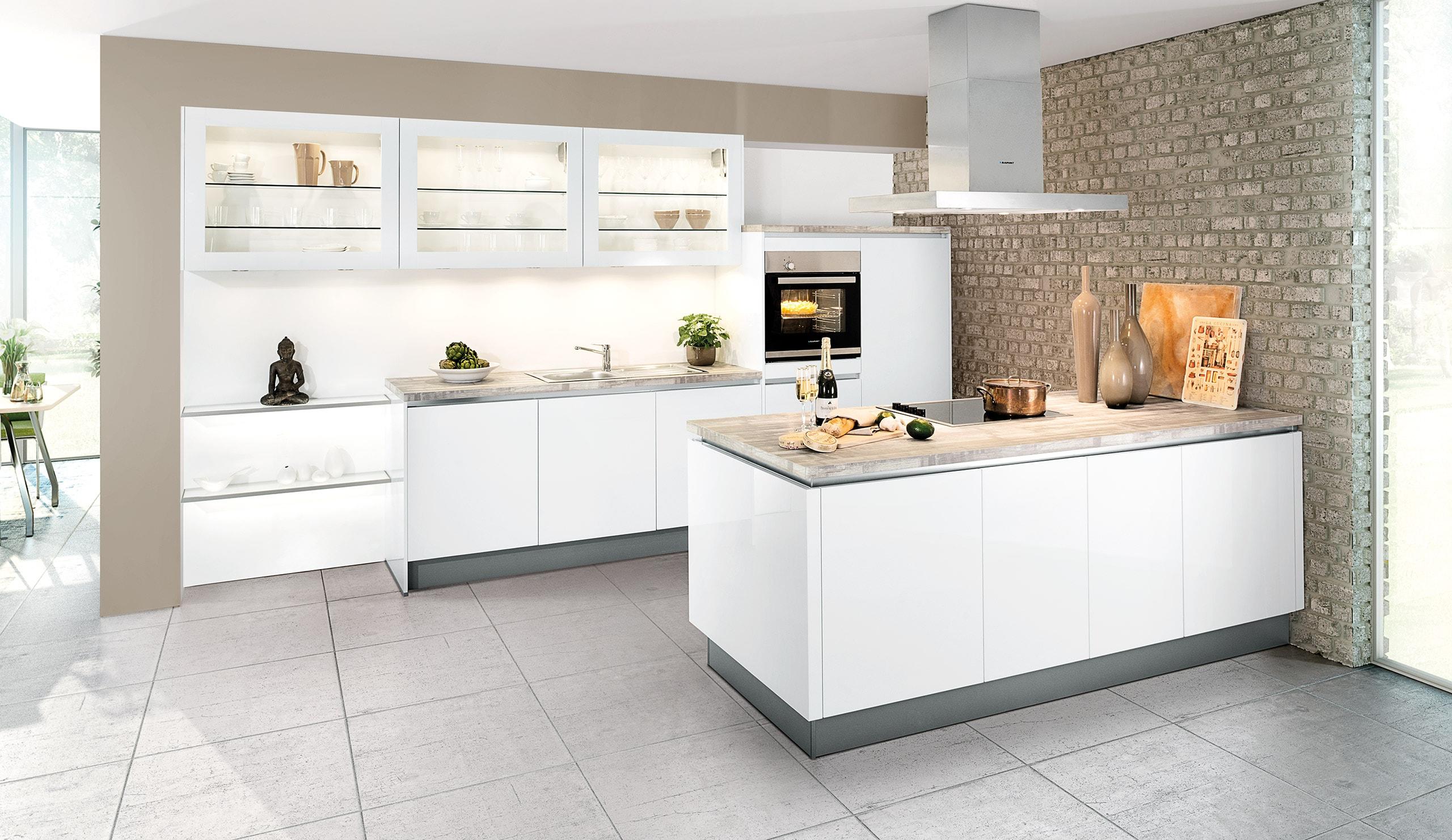 Full Size of Küchen Quelle Moderne Einbaukche Classica 1230 Grifflos Weiss Hochglanz Regal Wohnzimmer Küchen Quelle