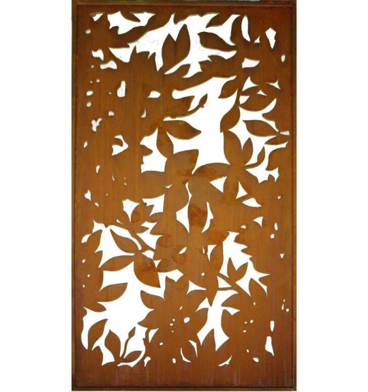Medium Size of Paravent Outdoor Metall Sichtschutz Rostig Mit Blattwerk Motiv 200 Cm 100 Regal Weiß Küche Kaufen Edelstahl Garten Bett Regale Wohnzimmer Paravent Outdoor Metall