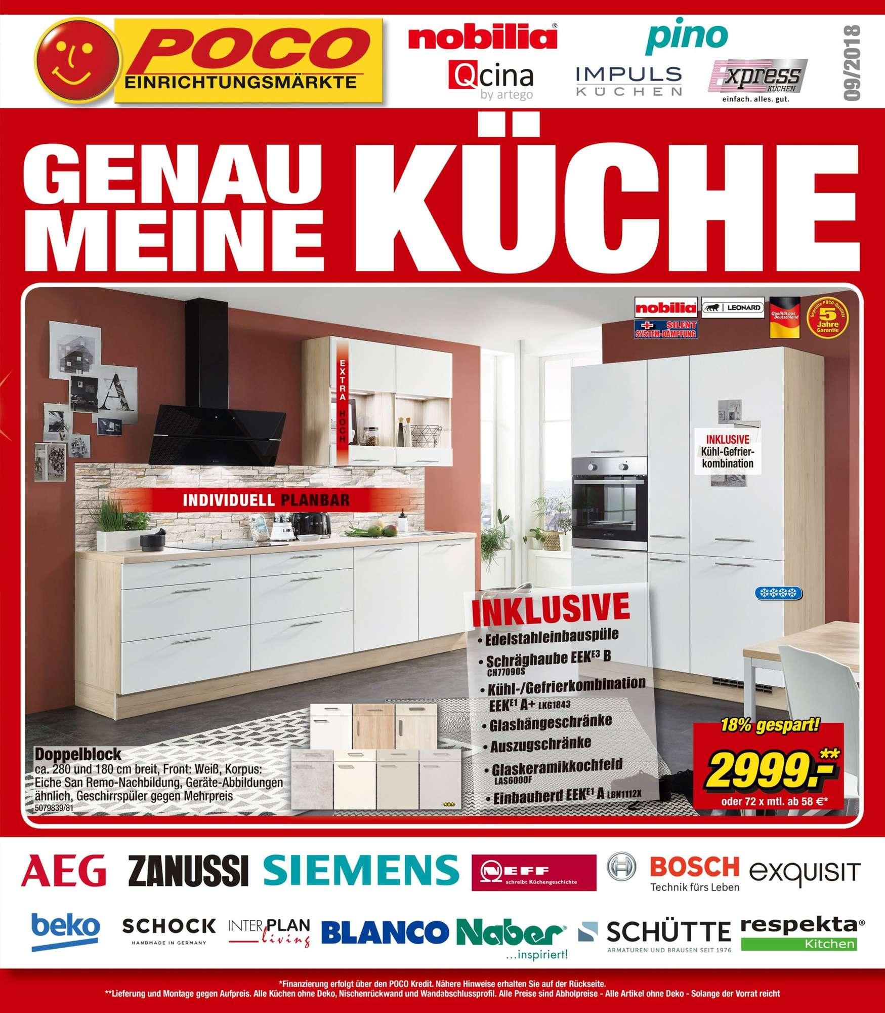 Full Size of Küchenzeile Poco Genau Meine Kche 01092018 09122018 Bett Küche 140x200 Big Sofa Schlafzimmer Komplett Betten Wohnzimmer Küchenzeile Poco