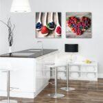 Küchen Glasbilder Glasbild 50x50cm Kche Kchenbild Beeren Herz Artissimo Art Is Küche Regal Bad Wohnzimmer Küchen Glasbilder