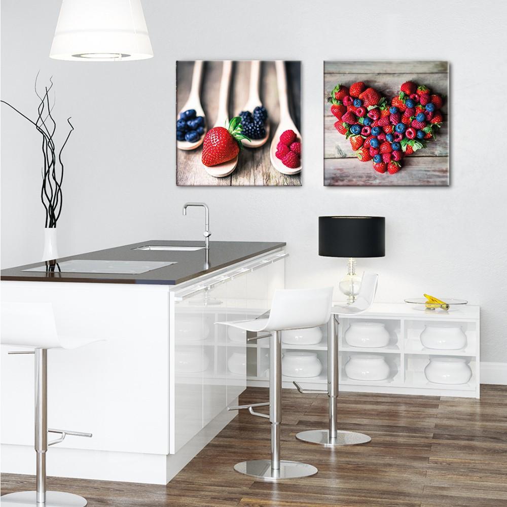 Full Size of Küchen Glasbilder Glasbild 50x50cm Kche Kchenbild Beeren Herz Artissimo Art Is Küche Regal Bad Wohnzimmer Küchen Glasbilder