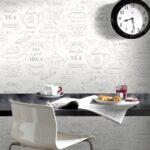 Abwaschbare Tapete Küche Geeignete Kche Abwaschbar Retro Selbstklebende Vorhänge Mit Geräten Industriedesign Doppel Mülleimer U Form Rosa Pendelleuchte Wohnzimmer Abwaschbare Tapete Küche