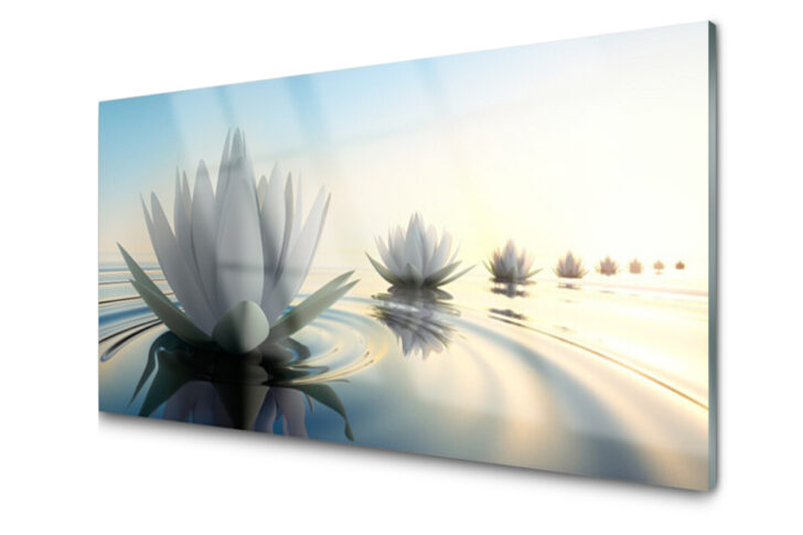 Medium Size of Fliesenspiegel Modern Blumen Wasser Kunst Kchenrckwand Tulupde Tapete Küche Moderne Duschen Bilder Fürs Wohnzimmer Bett Design Holz Modernes Deckenleuchte Wohnzimmer Fliesenspiegel Modern