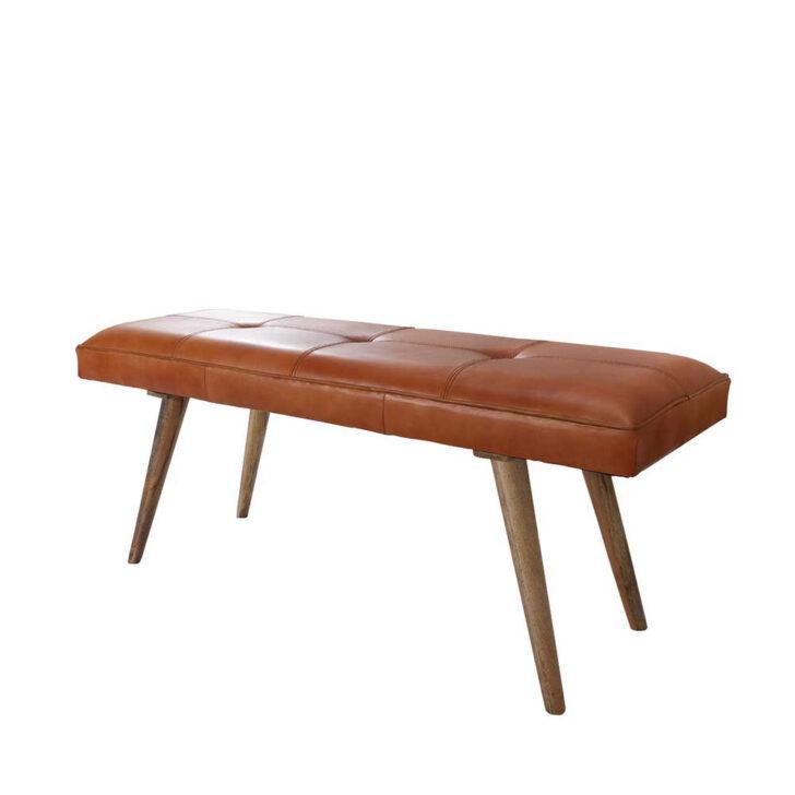 Medium Size of Gepolsterte Sitzbank Retro Mit Echtem Leder In Cognac Mango Holz Bett Gepolstertem Kopfteil Küche Schlafzimmer Lehne Garten Bad Wohnzimmer Gepolsterte Sitzbank
