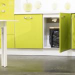 Abfallkübel Küche Wohnzimmer Abfallkübel Küche Abfalleimer Mit Komprimierfunktion Abfallpresse 35 Liter Einbauküche Weiss Hochglanz Landküche Salamander Doppelblock Rückwand Glas