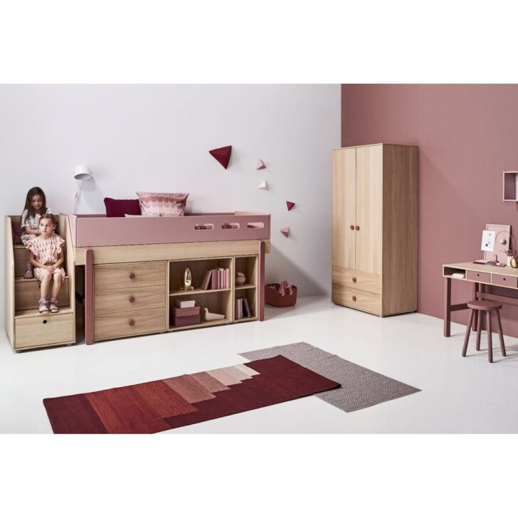 Medium Size of Bett Mit Stauraum 90x200 Flexa Popsicle Halbhohes Cherry 90 10765 33 1370 200x200 Weiß Lattenrost Und Matratze Miniküche Kühlschrank Betten Aus Holz Tatami Wohnzimmer Bett Mit Stauraum 90x200
