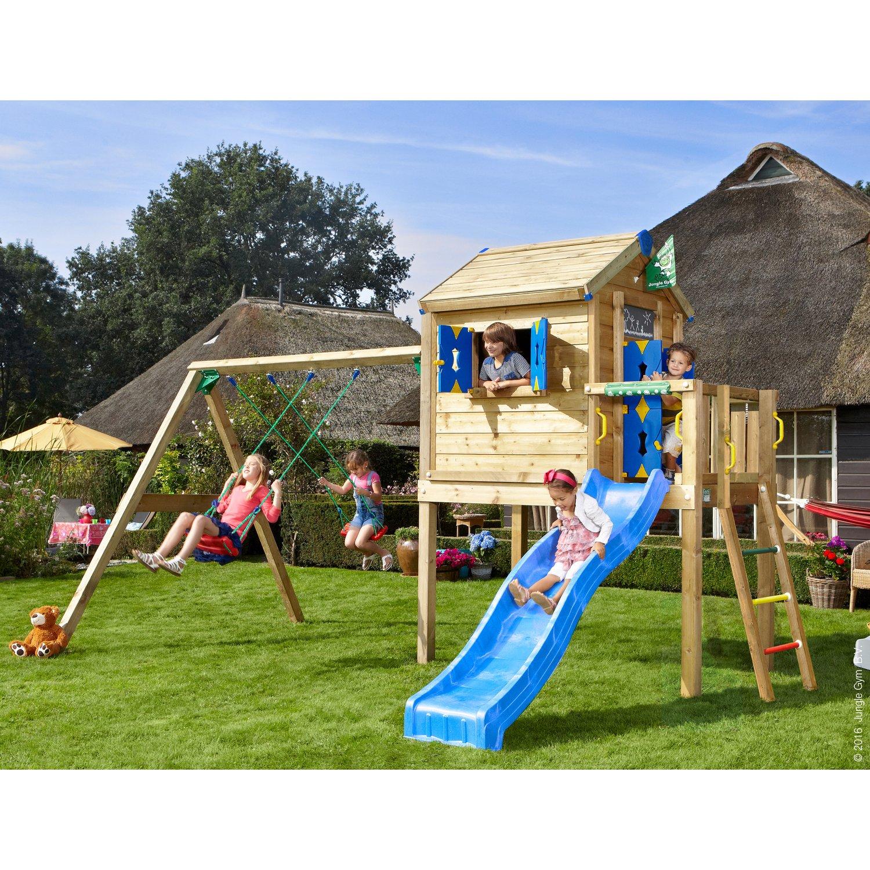Full Size of Spielturm Obi Jungle Gym Spielhaus L 2 Schaukel Mit Rutsche Blau Kaufen Bei Nobilia Küche Einbauküche Garten Immobilienmakler Baden Mobile Regale Wohnzimmer Spielturm Obi