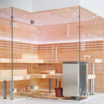 Außensauna Wandaufbau Wohnzimmer Lauraline Design Sauna Bela