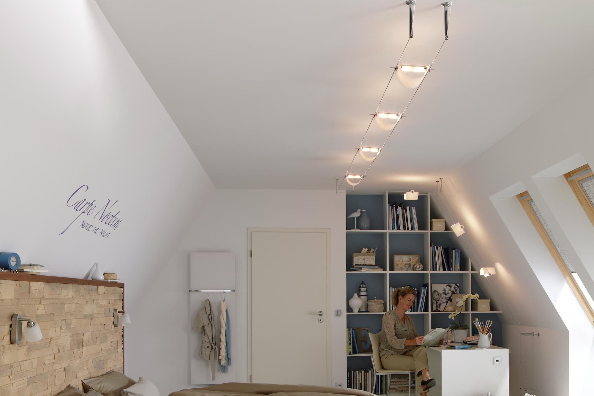 Full Size of Flexible Seilsysteme Komplettsets Paulmann Licht Wohnzimmer Tapeten Led Heizkörper Fürs Hängelampe Gardine Hängeschrank Lampe Fototapete Wohnzimmer Deckenspots Wohnzimmer