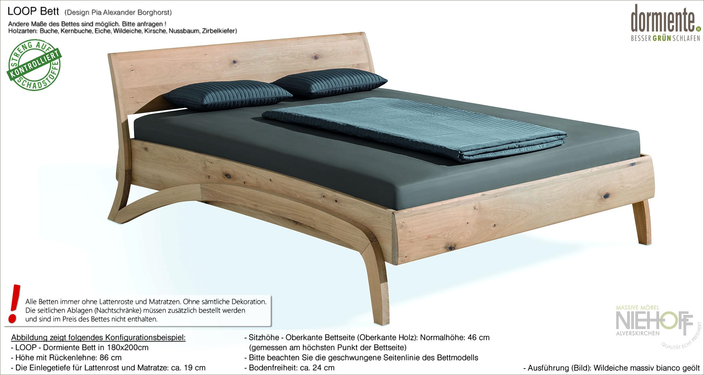 Full Size of Bett Design Holz Betten Massivholz Schlicht Loop Mit Leichter Und Zeitloser Form Seiner Geschwungenen Balken Wickelbrett Für Fliesen In Holzoptik Bad Jugend Wohnzimmer Bett Design Holz