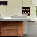 Puristische Kchenarbeitsplatte Aus Beton Maxraumelemente Freistehende Küche Küchen Regal Wohnzimmer Freistehende Küchen