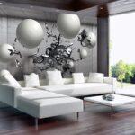 Fototapete Grau Wohnzimmer Fototapete Grau Tapete Wandbild F01994 3d Geometrische Abstraktion Sofa Stoff Küche Hochglanz Wohnzimmer Schlafzimmer Graues Big Xxl Landhausküche Weiß 3