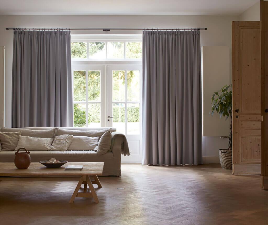 Full Size of Vorhang Terrassentür Sichtschutz Im Wohnzimmer Moderne Plissees Bad Küche Wohnzimmer Vorhang Terrassentür