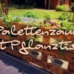Palettenzaun Mit Pflanztisch Bauen Youtube Regale Aus Europaletten Paletten Bett 140x200 Regal Kaufen Garten Zaun Wohnzimmer Paletten Zaun