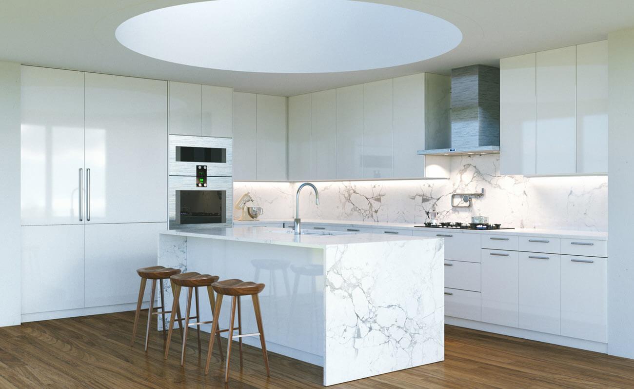 Full Size of Weie Kche Mit Brauner Granit Arbeitsplatte Natrliche Streifen Granitplatten Küche Sideboard Arbeitsplatten Wohnzimmer Granit Arbeitsplatte