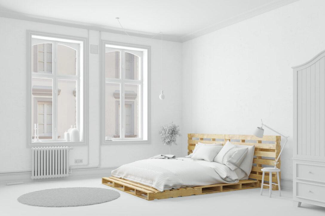 Large Size of Bauanleitung Bauplan Palettenbett Palettenbetten Kaufen Oder Einfach Mit Diy Wohnzimmer Bauanleitung Bauplan Palettenbett