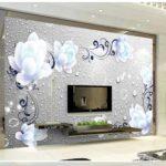 Tapete 3d Blaue Pfingstrose Muster Glaswand Küche Wandlampe Bad Wandtattoo Schlafzimmer Komplettangebote Sprüche Wandpaneel Glas Schrankwand Wohnzimmer Wohnzimmer Deko Schlafzimmer Wand