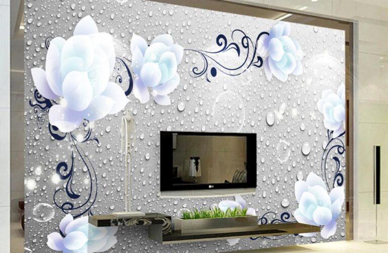 Deko Schlafzimmer Wand Wohnzimmer Tapete 3d Blaue Pfingstrose Muster Glaswand Küche Wandlampe Bad Wandtattoo Schlafzimmer Komplettangebote Sprüche Wandpaneel Glas Schrankwand Wohnzimmer