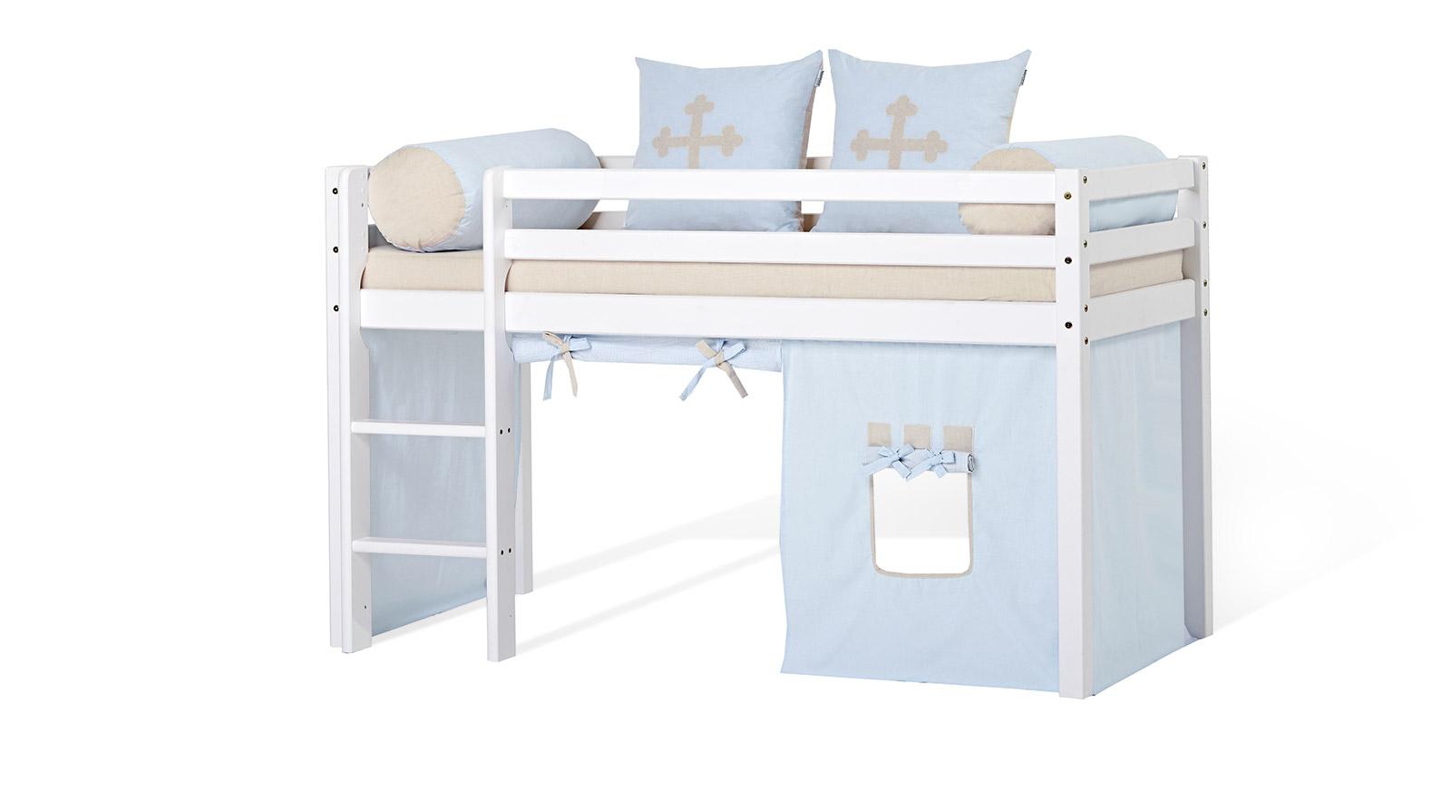 Full Size of Halbhohes Hochbett Bett Umbaubar In Wei Lackierter Kiefer Kids Heaven Wohnzimmer Halbhohes Hochbett