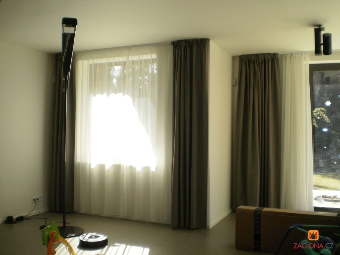 Large Size of Fenster Mit Aussicht In Den Wald Heimteideen Vorhänge Küche Wohnzimmer Schlafzimmer Wohnzimmer Vorhänge Schiene